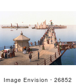 #26852 Stock Photography of People Strolling past the Reads Grand Camera Obscura Building on the Margate Jetty in Margate Thanet Kent England UK by JVPD