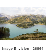 #26864 Stock Photography Of Mountains Surrounding Tarn Hows Coniston Lake District Cumbria England Uk