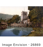 #26869 Stock Photography Of The St Oswald'S Church On The Waterfront In Grasmere Lake District Cumbria England Uk