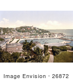 #26872 Stock Photography Of Waterfront Buildings Along The Harbour Intorquay As Seen From Waldren Hill Torbay Devon England Uk