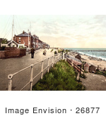 #26877 Stock Photography Of People Walking On The Parade Promenade Near The Coast Guard Station In Southwell England