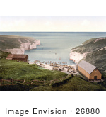 #26880 Stock Photography Of Boats And Huts On The Beach On The North Sea Landing In Flamborough Yorkshire England Uk