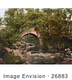 #26883 Stock Photography Of The Historical Ivy Bridge Spanning The River Erme In Ivybridge Plymouth South Hams Devon England Uk