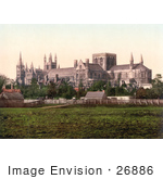#26886 Stock Photography Of A South View Of The Peterborough Cathedral In Peterborough England