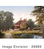 #26889 Stock Photography Of A Pond By A Farmhouse In Royal Tunbridge Wells Kent England Uk