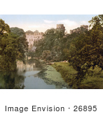#26895 Stock Photography Of The River Avon Along Warwick Castle In Warwick Warwickshire West Midlands England Uk