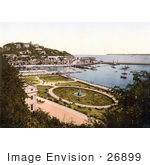 #26899 Stock Photography Of The Park Gardens And Waterfront Buildings On The Harbour In Torquay Torbay Devon England Uk