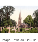 #26912 Stock Photography Of The Cemetery Of The St Mary'S Church In Ross-On-Wye Herefordshire England Uk