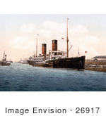 #26917 Stock Photography Of The Rms Campania Steamboat On The Mersey River In England