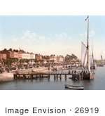 #26919 Stock Photography Of People Crowding The Busy East Parade Promenade To View Yachts In Southend-On-Sea Essex England Uk