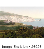 #26926 Stock Photography Of Alum Bay And The Needles With The Lighthouse On The Isle Of Wight England