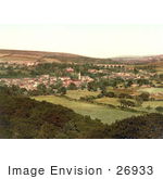 #26933 Stock Photography Of The Town Of Ivybridge With The Viaduct And Paper Mill Plymouth Devon England Uk