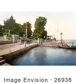 #26938 Stock Photography Of People Strolling Along The Waterfront By The Rys Club House In Cowes Isle Of Wight England Uk