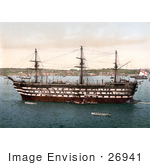 #26941 Stock Photography of the Royal Navy HMS Impregnable Training Ship in Plymouth Devon England UK by JVPD