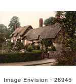 #26945 Stock Photography Of The Historical Ann Hathaway'S Cottage In Shottery Stratford-On-Avon Warwickshire England Uk