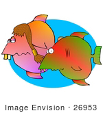 #26953 Hillbilly Fish With Buck Teeth Clipart Graphic by DJArt
