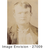#27009 Stock Photography Of A Mugshot Of Robert Leroy Parker Better Known As Butch Cassidy
