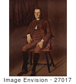#27017 Stock Photography Of A Painted Portrait Of Roger Sherman Seated In A Chair By Ralph Earl C 1777