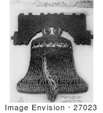 #27023 Stock Photography Of A Living Pattern Made Of A Crowd Of 25000 Officers And Men Forming The Human Liberty Bell At Camp Dix New Jersey 1918