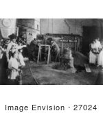 "#27024 Stock Photography of a Crowd Of Women And Children Watching Men At The Meneely Bell Co Casting The Suffrage ""Liberty Bell"" In Troy, New York, 1915 by JVPD"