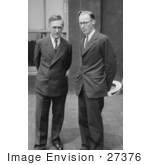 #27376 Stock Photo Of John T Scopes And Lawyer John R Neal Standing Side By Side In 1925