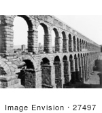 #27497 Stock Photo Of The Arches Of The Old Aqueduct In Segovia Spain