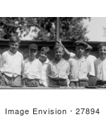 #27894 Historical Stock Photo of a Messy Group Of Boys With Pie On Their Faces After A Pie Eating Contest In 1923 by JVPD