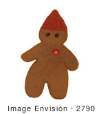 #2790 Picture of a Gingerbread Elf by Kenny Adams