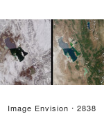 #2838 Winter And Summer Views Of The Salt Lake Region