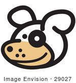 #29027 Royalty-Free Cartoon Clip Art Of A Cute Dog With A Spot Over His Eye