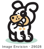 #29028 Royalty-Free Cartoon Clip Art Of A Silly Dog Biting His Own Tail