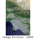 #2905 Los Angeles And Vicinity From Space