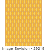 #29219 Royalty-Free Cartoon Clip Art Of An Orange Background With Colorful Diamonds