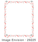 #29225 Royalty-Free Cartoon Clip Art Of A Stationery Background Of With A Border Of Confetti And Martinis