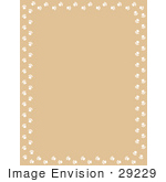 #29229 Royalty-Free Cartoon Clip Art Of A Tan Background With White Paw Prints Along The Borders