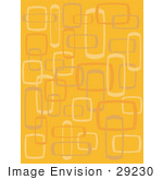 #29230 Royalty-Free Cartoon Clip Art Of An Abstract Orange Background With Boxes