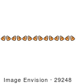 #29248 Royalty-Free Cartoon Clip Art Of A Border Of Candy Corn