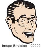 تصرفات الشخص ومدلولاتها 29295-royalty-free-cartoon-clip-art-of-a-happy-man-wearing-glasses-and-laughing-by-andy-nortnik