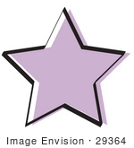 #29364 Royalty-Free Cartoon Clip Art Of A Purple Star Shape