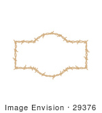 #29376 Royalty-Free Cartoon Clip Art Of A Border Frame Of Barbed Wire Over A White Background