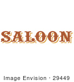 #29449 Royalty-Free Cartoon Clip Art Of A Brown Saloon Sign