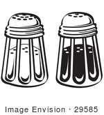 #29585 Royalty-free Cartoon Clip Art of a Salt And Pepper Shakers In A Diner by Andy Nortnik