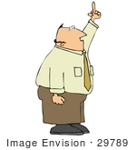 #29789 Clip Art Graphic Of A Pissed Businessman Flipping People Off