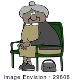 #29808 Clip Art Graphic Of A Woman With A Hairy Lip Seated In A Chair