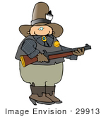 #29913 Clip Art Graphic Of A Wester Sheriff Holding A Rifle
