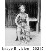 #30215 Stock Photo Of A Female Javanese Dancer In Costume In Javanese Village At The Paris Exposition Of 1889 Seated In A Chair