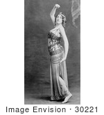 #30221 Stock Photo Of A Female Dancer Celia Claud Dressed In A Beautiful Costume And Dancing