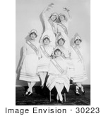 #30223 Stock Photo Of A Group Of Women'S Suffrage Dancers Posing For A Portrait