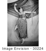 #30224 Stock Photo Of A Beautiful Young Woman Rasch In Costume Dancing On Stage