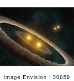 #30659 Stock Photo Of Hd 98800 A Quadruple-Star System Which Is About 10 Million Years Old And Is Located 150 Light-Years Away In The Constellation Tw Hydrae